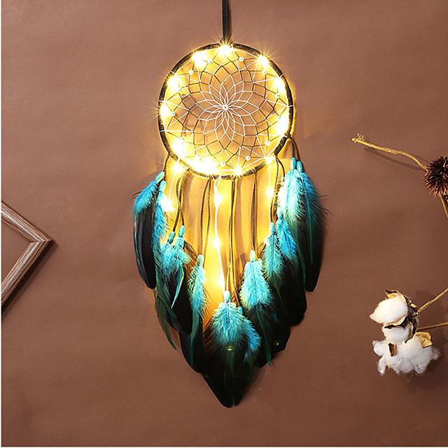dreamcatcher led plume veilleuse à la main vent carillon ornements vacances noël événements de mariage décoration saint valentin anniversaire cadeau romantique