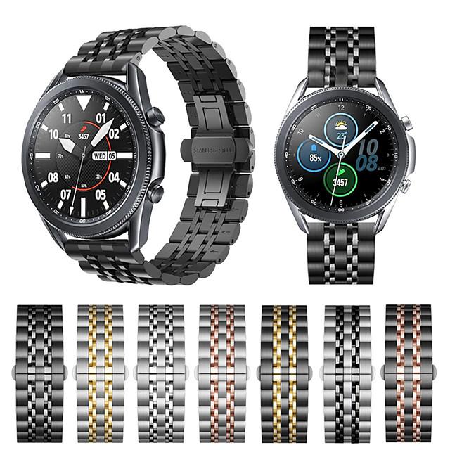 สายนาฬิกาสแตนเลสสตีล 20 มม. 22 มม. สำหรับสำหรับ Samsung Galaxy นาฬิกา 3 41 45 มม. 42 มม. 46 มม. เกียร์ S3 S2 คลาสสิกสร้อยข้อมือสำหรับ Active 2 40 มม. 44 มม.