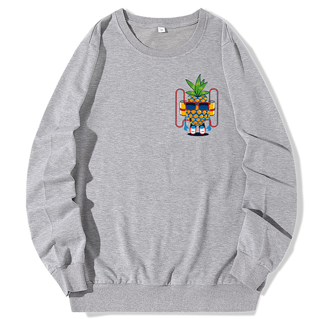 Dames Pullover Sweatshirt Grafisch Dagelijks Informeel Hoodies Sweatshirts Wit Zwart blauw