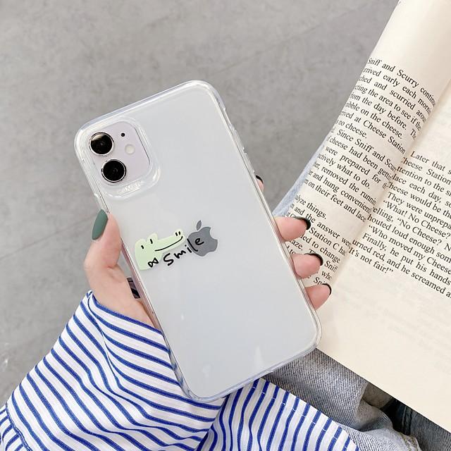جراب لهاتف Apple iphone 7 8 7 plus 8 plus x xs xr xs max se 11 11 pro 11 pro max نمط الغطاء الخلفي الشفاف الكرتون tpu