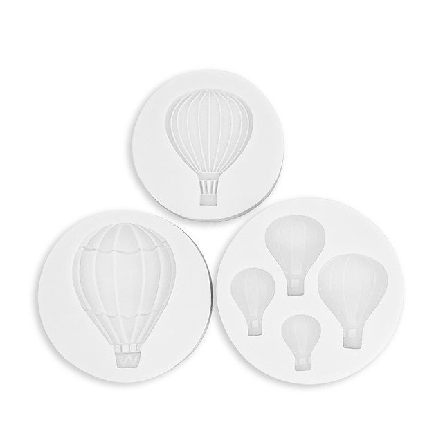 3 buc un balon cu aer cald instrument de copt silicon ciocolată tavă cu gheață decorare tort fondant