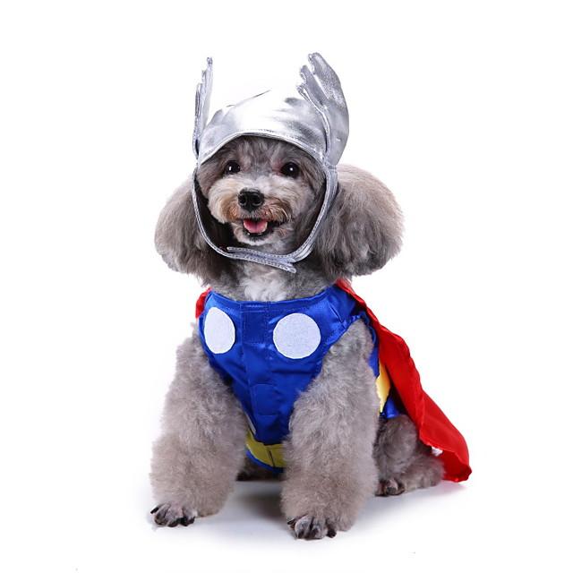כלבים תחפושות ליל כל הקדושים תחפושות טי שירט קולור בלוק קוספליי סגנון חמוד חג מולד Party בגדים לכלבים בגדי גור תלבושות לכלבים נושם כחול תחפושות לכלבת ילדה וילד פּוֹלִיאֶסטֶר S M L XL / Halloween