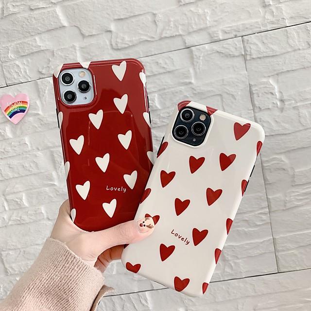 fodral för apple iphone 7 plus 8 plus xr xs xs max x se 11 11pro 11promax mönster bakomslag tpu hjärta