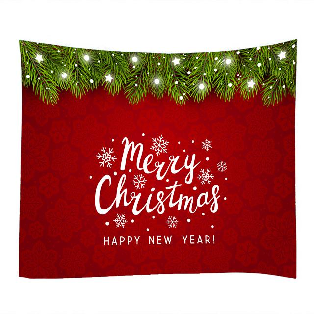 kerst kerstman wandtapijten art decor deken gordijn picknick tafelkleed opknoping thuis slaapkamer woonkamer slaapzaal decoratie kerstmis gelukkig nieuwjaar kerstboom polyest
