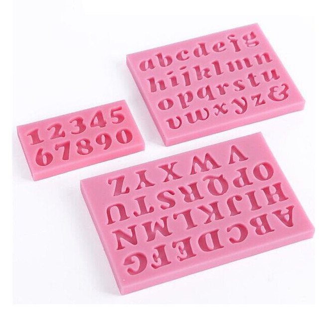 instrumente de decorare a tortului mucegai de ciocolată silicon scrisoare și număr de forme de fondant prăjituri instrumente de coacere