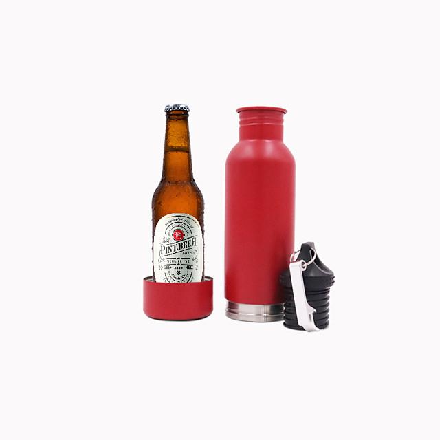 RVS bierfles koeler en houder met flesopener