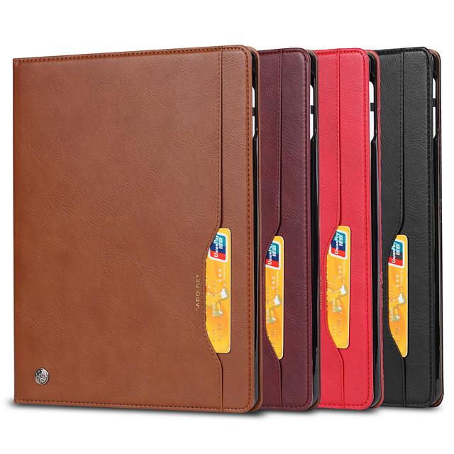 telefono Custodia Per Apple Integrale iPad Air iPad (2018) iPad Air 2 iPad (2017) iPad Pro 9.7 '' Porta-carte di credito Resistente agli urti A calamita Tinta unita pelle sintetica TPU