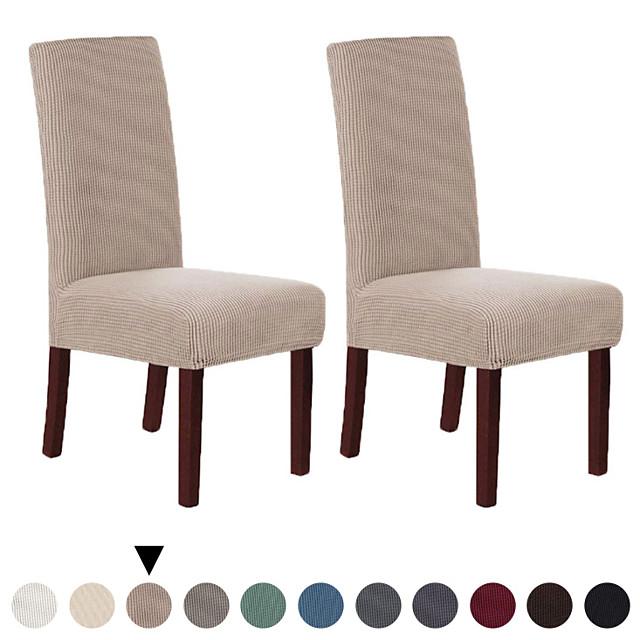 Housse de chaise Couleur Pleine Velventine Polyester Literie