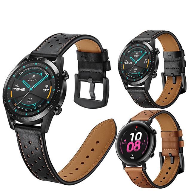 кожаный ремешок для часов для часов huawei gt 2e / gt2 46 мм / gt2 42 мм / honor magic watch 2 46 мм 42 мм / gt active / watch 2 / watch 2 pro сменный браслет ремешок на запястье браслет