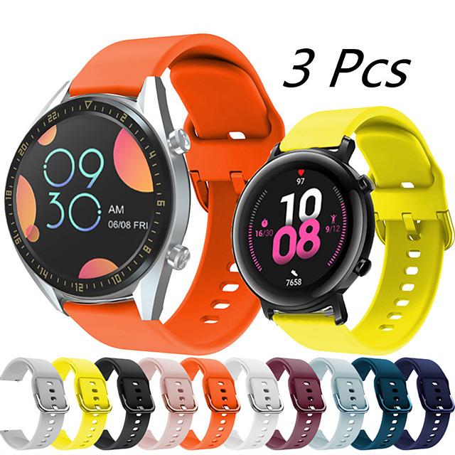 3 шт. Спортивный силиконовый ремешок для часов для huawei watch gt 2e / honor magic watch 2 46 мм 42 мм / gt2 46 мм / gt2 42 мм / gt active / watch 2 / watch 2 pro сменный браслет ремешок на запястье