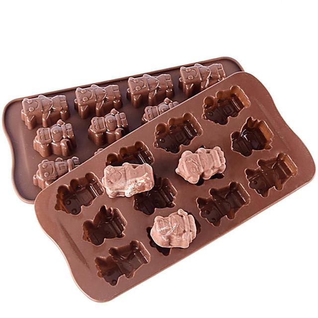 torta formák szilikon torta formák mindennapi használatra kreatív 12 vállalat érdekes szilikon robot kis alakú jég rács