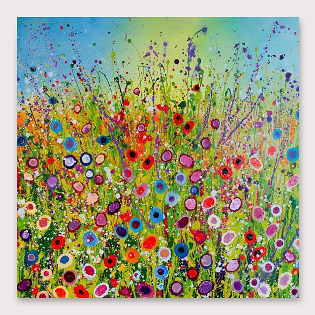 yardů&ručně malované botanické olejomalby s nataženým rámečkem pro bytové dekorace