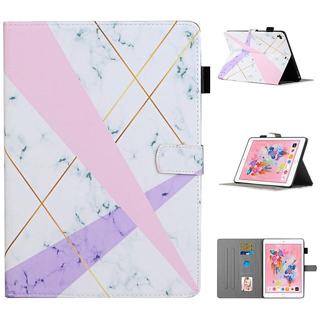 telefono Custodia Per Apple Integrale iPad Mini 3/2/1 iPad Mini 4 iPad Mini 5 Porta-carte di credito Con supporto Fantasia / disegno Albero Fiore decorativo Animali pelle sintetica