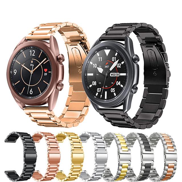 20 / 22mm band riem voor Samsung Galaxy horloge 3 41mm / 45mm roestvrij stalen band Gear S3 Active2 metalen band