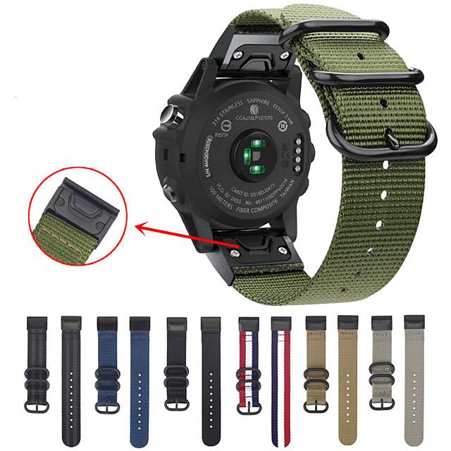 easy fit nato premium нейлоновый ремешок для garmin fenix 5 / fenix 5 plus ремешок для часов быстросъемный сменный браслет для garmin fenix 6/6 pro / fenix 5 / fenix 5 plus