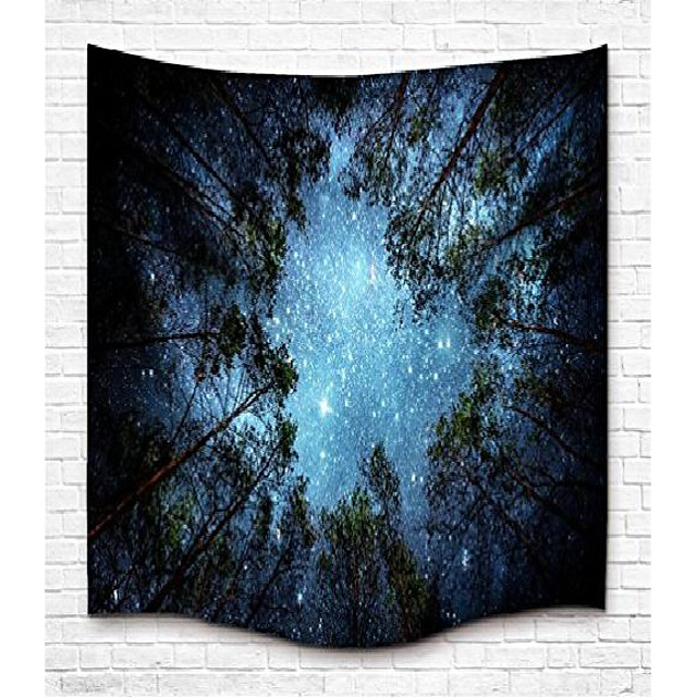 tapestry wall hanging wall tapestry forest starry tapestry galaxy tapestry melkweg tapestry sky tapestry tree tapestry mandala bohemian tapestry for bedroom dorm decor
