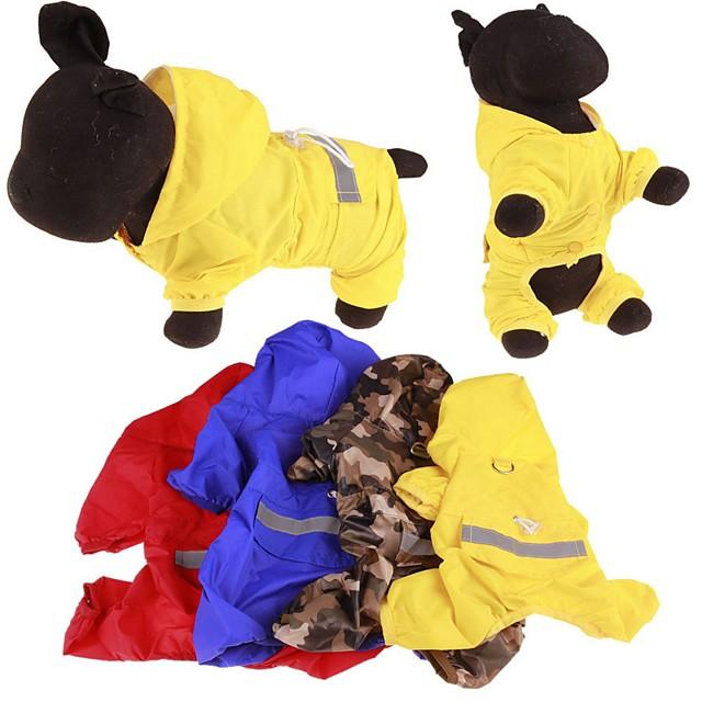 كلب معطف المطر ملابس الجرو مقاومة الماء الأماكن المفتوحة ملابس الكلاب ملابس الجرو ملابس الكلب أصفر أحمر أزرق كوستيوم للفتاة والفتى الكلب مادة مختلطة S M L XL XXL
