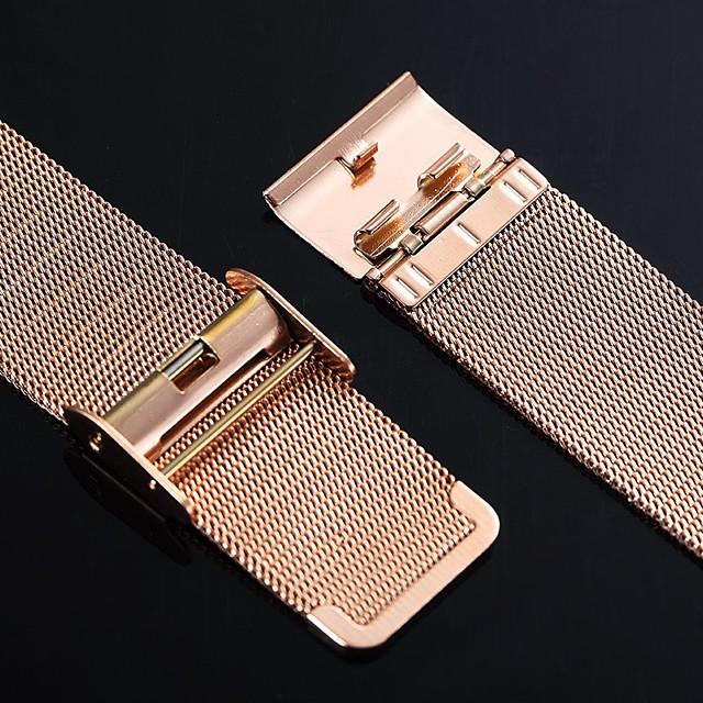 Нержавеющая сталь Ремешок для часов Черный / Золотистый 20cm / 7.9 дюймы 2cm / 0.8 дюймы