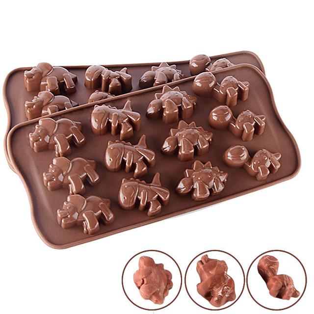 matrițe pentru tort Crăciun silicon forme pentru tort utilizează în fiecare zi creativ 12 dinozaur silicon mucegai animal