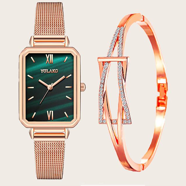 Dames Armbandhorloge Quartz Horloge Kwarts Moderne Style Stijlvol Modieus Chronograaf Analoog Wit blauw Rood