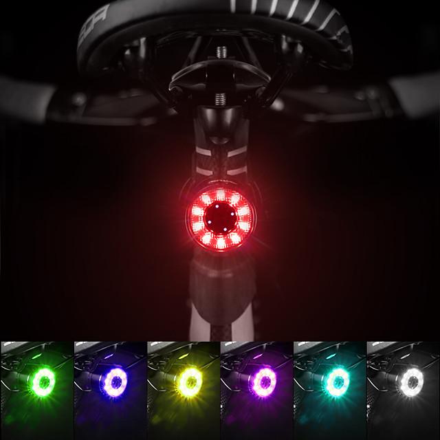 LED Luci bici Waterproof Set luci ricaricabile per bici Luci di coda LED Bicicletta Ciclismo Impermeabile Uscita di ricarica USB Anti-polvere Rilascio rapido Litio-polimero 60 lm Li-Batteria integrata