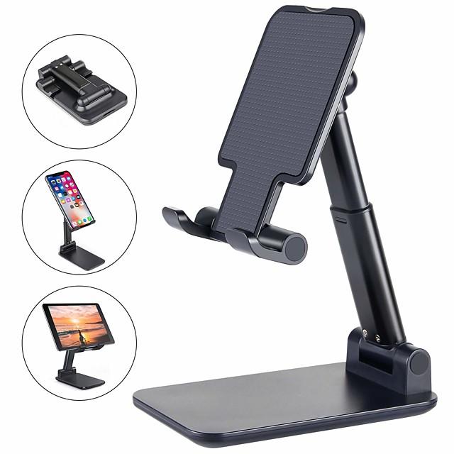 iphone ipad iphone seの電話サポート2/11/11 pro / xs max電話スタンドホルダー調整可能な金属製デスクトップタブレットホルダーアップグレードされた高さの増加携帯電話用デスク電話ホルダー