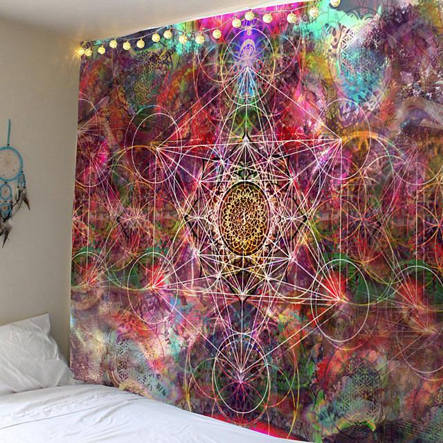 mandala bohemian wall tapestry art decor deken gordijn opknoping thuis slaapkamer woonkamer slaapzaal decoratie boho hippie psychedelische bloemen bloem lotus indische