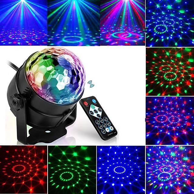 lampe de projection veilleuse led disco lumière musique son activé lumières de scène mini projecteur laser rotatif fête de noël spectacle effet lampe avec contrôle