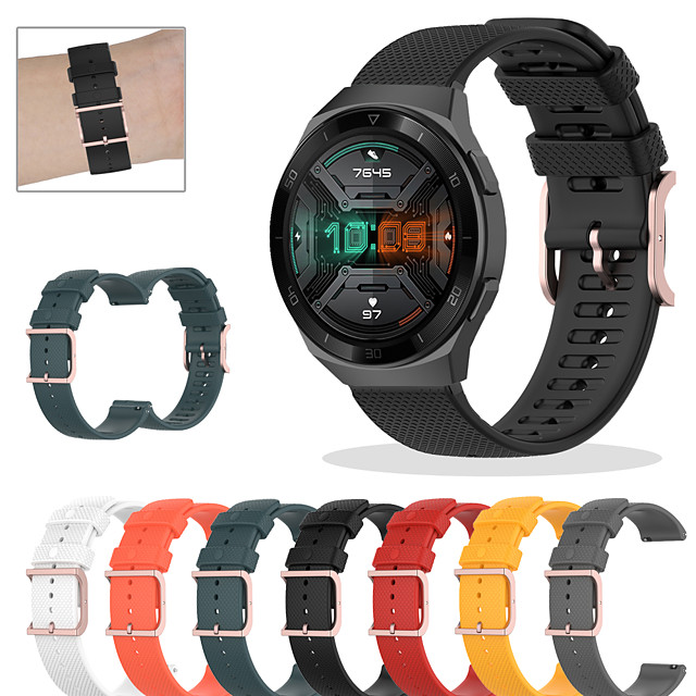 Sportowy silikonowy pasek do zegarka do zegarka huawei gt 2e / gt2 42mm / gt2 46mm / honor magic / magic watch 2 42mm 46mm / gt active / watch 2 / watch 2 pro wymienna bransoletka pasek na nadgarstek