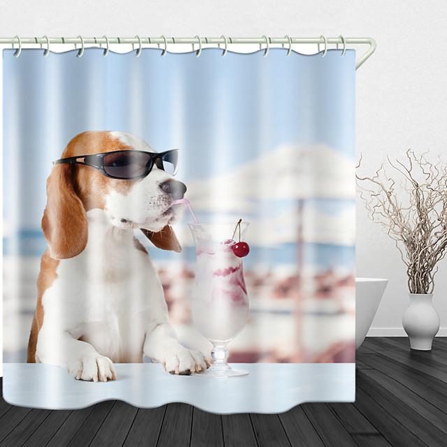 lunettes de soleil beagle crème glacée rideaux de douche& crochets modernes en polyester nouveau design