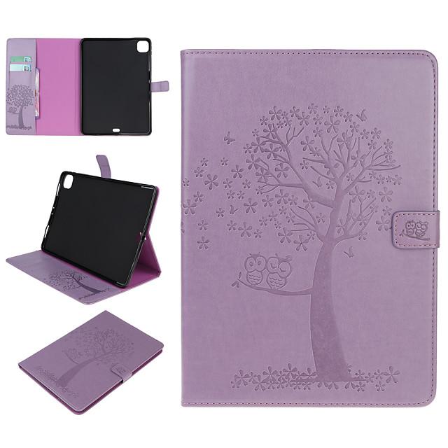 téléphone Coque Pour Apple Coque Intégrale iPad Mini 3/2/1 iPad Mini 4 iPad Mini 5 Porte Carte Avec Support Motif Arbre Animal faux cuir