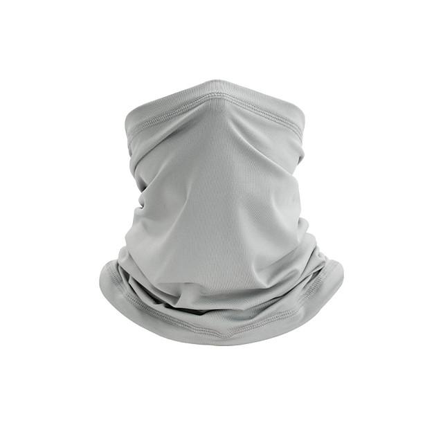 Neck Gaiter Neck Tube Bivakmuts Bandana-masker Voor heren Dames Unisex Hoofddeksels Effen UV-zonbescherming Stofbestendig Koeling voor Fitness Hardlopen Wielrennen Herfst Lente Zomer Wit Zwart Leger