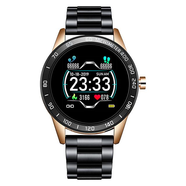 lg0109 roestvrijstalen smartwatch voor Android / iOS / Samsung-telefoons, bluetooth fitness tracker ondersteuning hartslagmeter