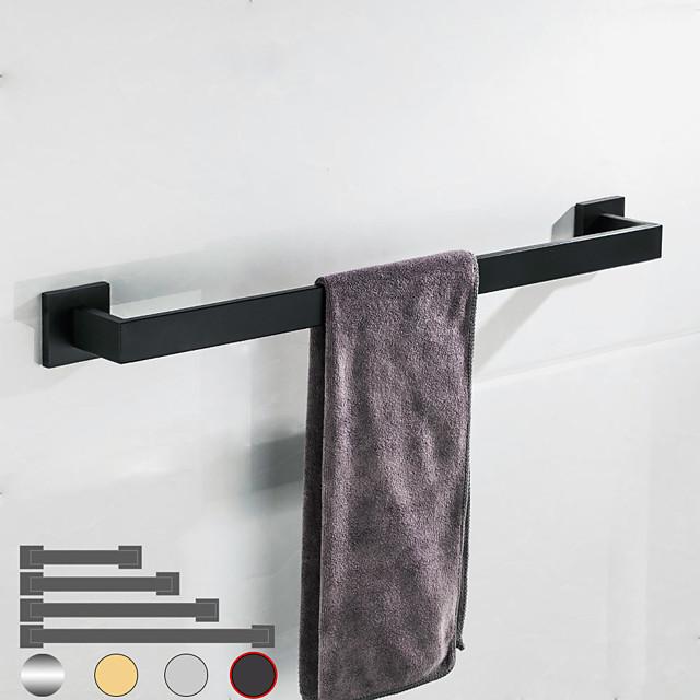 porte-serviettes étagère de salle de bain en acier inoxydable galvanisé nouveau design salle de bain à tige unique fixée au mur 1pc finition chromée et peinte