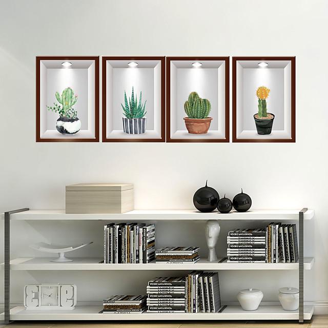 walldecals decor vinyl diy cactus muurstickers verwijderbare waterdicht behang decals art gemakkelijk peel& stick voor kinderkamer woonkamer slaapkamer 40 * 120 cm