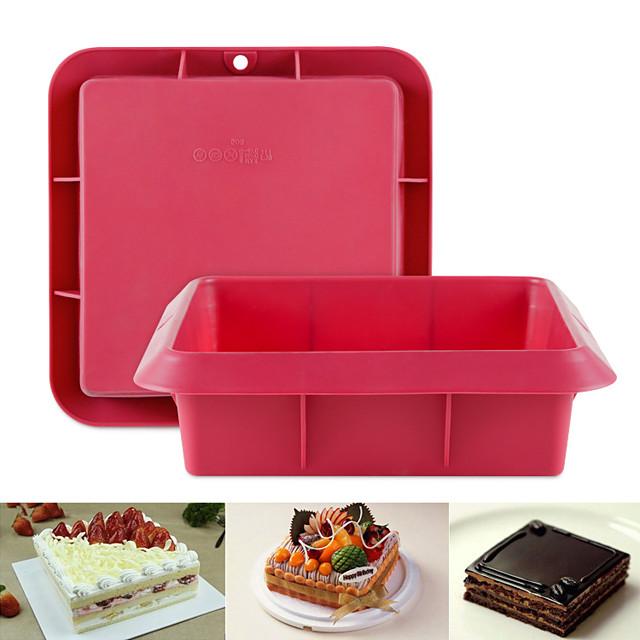 siliconen cakevorm vierkante vorm antiaanbaklaag bakplaat 1st