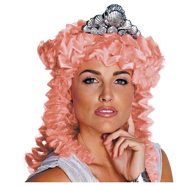 Kostuum pruiken Aphrodite Tight Curl Pixie-kapsel Pruik Gemiddelde Lengte Roze + Rood Synthetisch haar Dames Modieus Design Cosplay voortreffelijk Roze