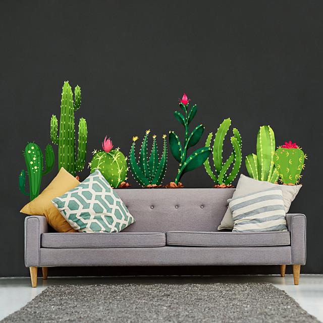walldecals decor vinyl diy cactus muurstickers verwijderbare waterdicht behang decals art gemakkelijk peel& stick voor kinderkamer woonkamer slaapkamer