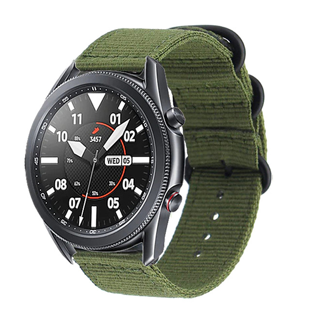 Uhrenarmband für Galaxy Watch 3 45mm / Galaxy Watch 3 41mm Samsung Sport Band Nylon Handschlaufe