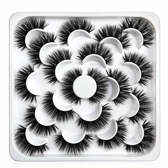 3d mink trepavice - 10 pari profesionalnih umjetnih umjetnih trepavica - prirodne višekratne guste pahuljaste umjetne trepavice umjetne mink trepavice (5daz06)