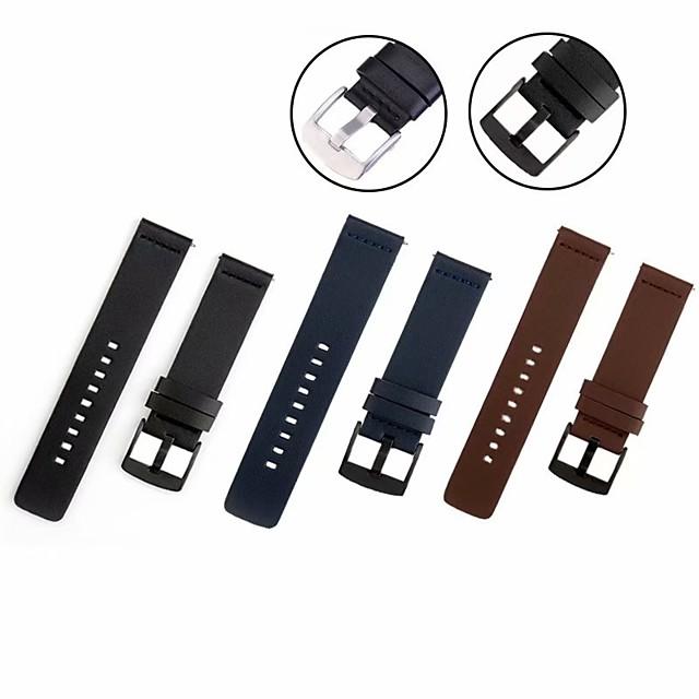 Ремешок для часов для Gear S2 / Gear 2 Neo R381 / Samsung Galaxy Watch 46 Samsung Galaxy Классическая застежка силиконовый / Натуральная кожа Повязка на запястье