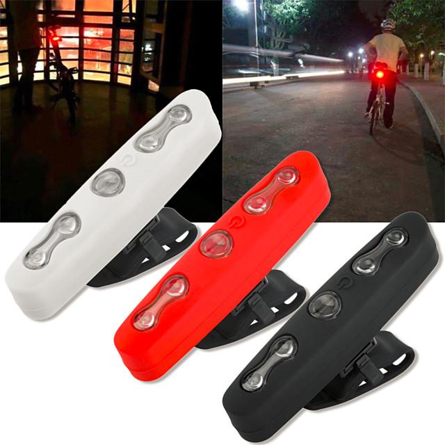 5led задний велосипедный фонарь водонепроницаемый велосипедный фонарь безопасность велосипедный предупреждающий задний фонарь белый