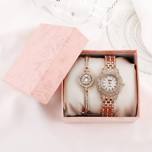 Pentru femei Quartz Quartz Stil modern Stl Elegant Cronograf Analog Roz auriu Auriu Argintiu