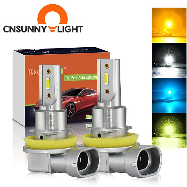 cnsunnylight автомобильные противотуманные фары b1 2шт h11 / h8 / h9 9005 / hb3 9006 / hb4 светодиодные лампы для автоматического вождения drl лампы белый / желтый 2400lm plug& play 12v 24v 4