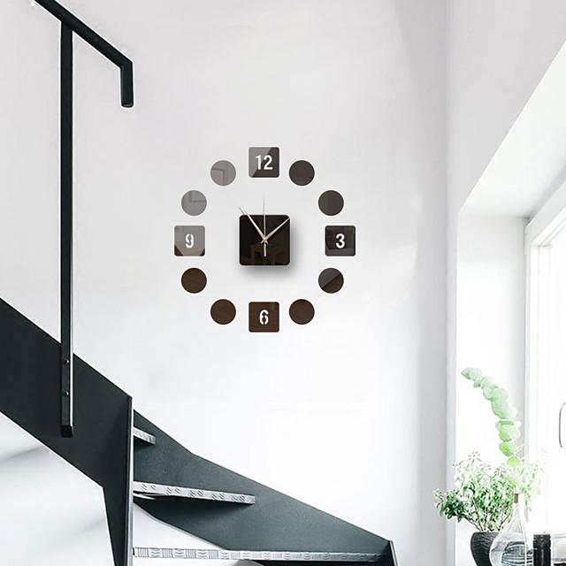 3d diy wandklok frameloze spiegel muursticker home decor voor woonkamer slaapkamer