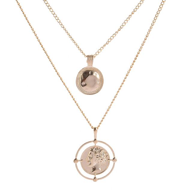 Dames Ketting Dubbel Gelaagd Eenvoudig Vintage Europees Legering Goud 40 cm Kettingen Sieraden 1pc Voor