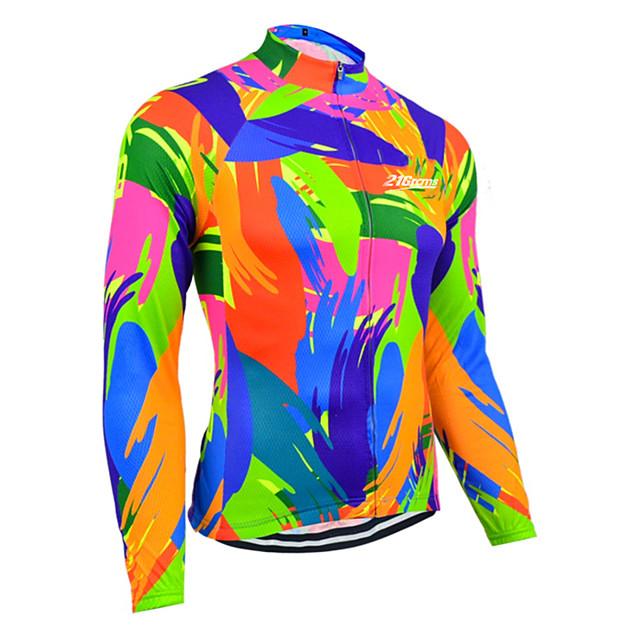 21Grams Žene Dugih rukava Biciklistička majica Blue + Orange Jedna barva Bicikl Biciklistička majica Majice Brdski biciklizam biciklom na cesti UV otporan Prozračnost Quick dry Sportski Odjeća