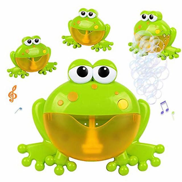jouet de bain moussant grenouilles | machine de soufflage de bulle de comptine de musique pour enfant en bas âge | laisse bébé aimer se baigner