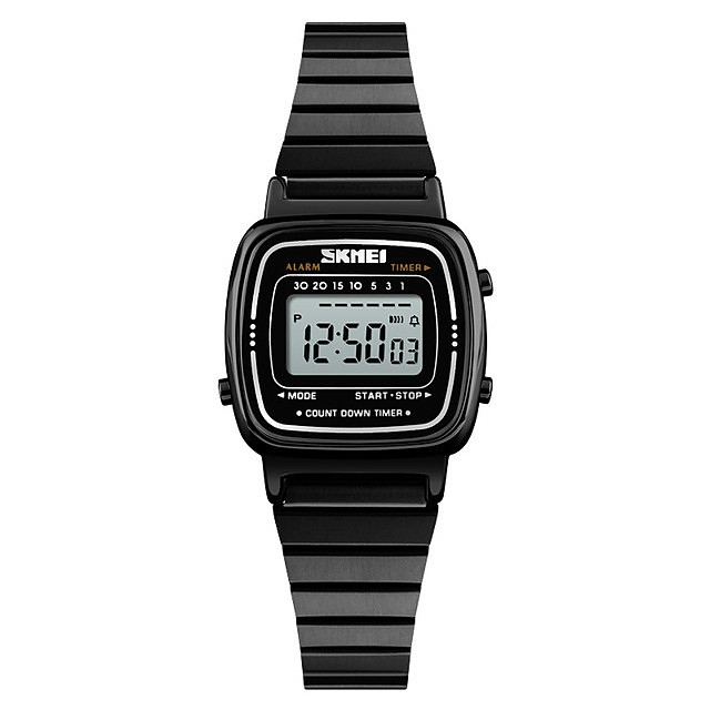 نسائي ساعة فستان ساعة رقمية رقمي كاجوال مقاوم للماء رقمي ذهبي روزي أسود ذهبي / سنة واحدة / رزنامه / LCD / ساعة التوقف / سنة واحدة