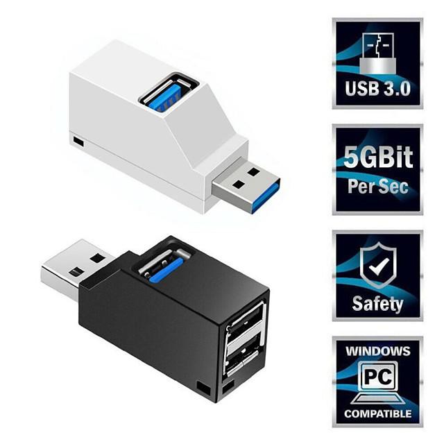 mini 3 poorten usb 3.0 splitter hub hoge snelheid data-overdracht splitter box adapter voor pc laptop macbook pro accessoires